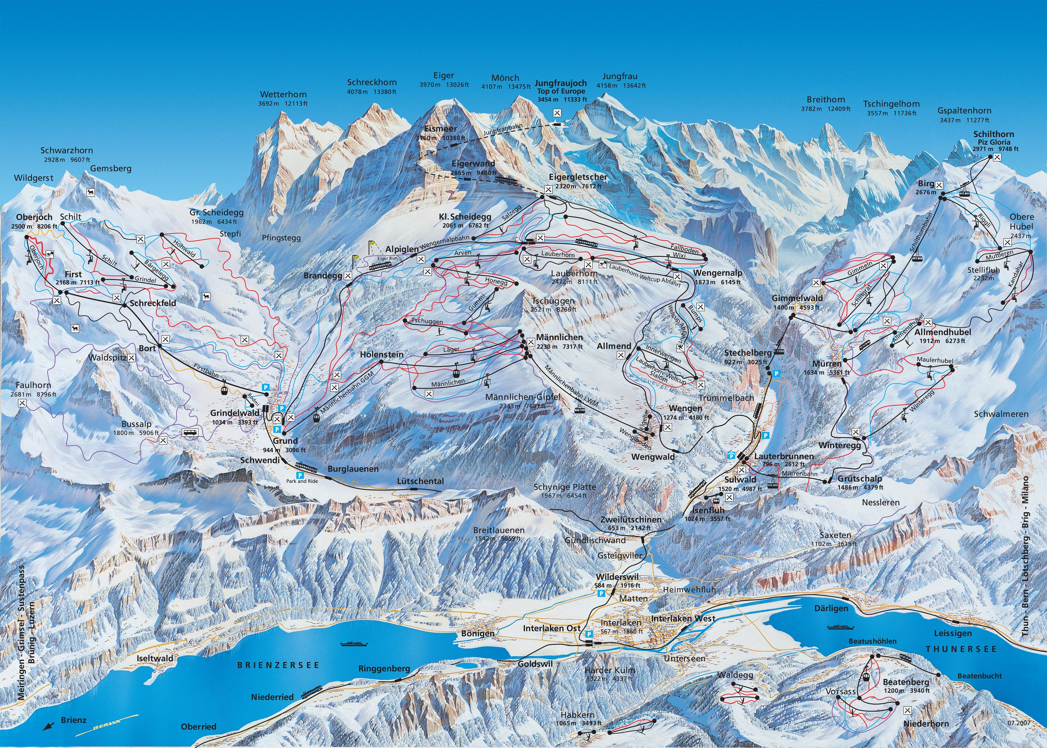 Затем поездить по Свиссландии в поисках прочих красот.  Вербье нам...  Grindelwald, St.Moritz, Aletsch и. Leukerbad.